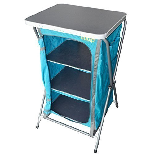 Uquip Charly Camp Cupboard with Carrying Case - Blue/Gray ()