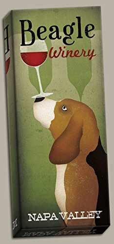 Popular Beagle Winery Napa Valley Panel by Ryan Fowler; One 8x20in Hand-Stretched Canvas -  Wild Apple