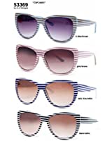 A.J. Morgan Cup Cakes Sunglasses with Lt. Blue/Brown Stripe