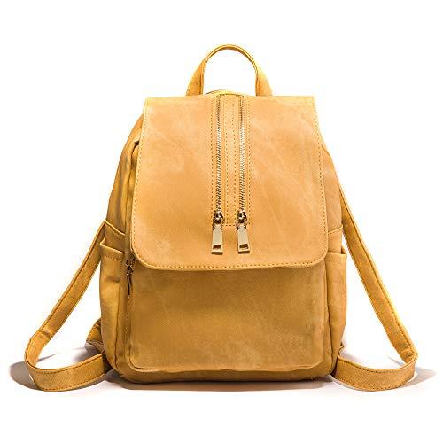 Amarillo un Mujer Mochila De Capacidad Viaje Simple Ywjhy Cuero Tamaño Suave Gran Moda Versátil gris Femenina Bolsa Para ZfBqgw8T