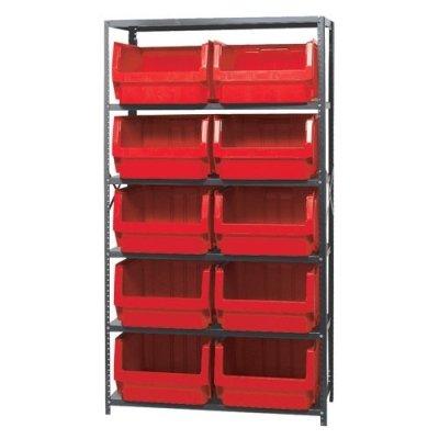 Verified Exchange Magnum Bin Unit with 6 Shelves & 10 Red Bins 19-3/4