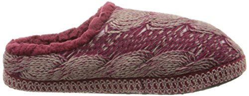 Muk Luks Womens Lucia Cable Slipper Boot Rood