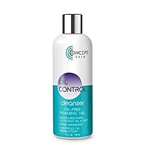 OIL CONTROL Face Wash for Oily Skin - Natural Oil Free Face Wash with Vitamin C, Aloe & Witch Hazel - for Hormonal Acne, Blemish Treatment & Acne Skin Care