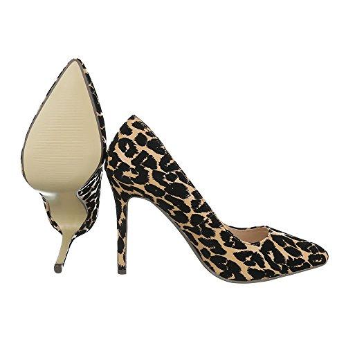 Ital-Design , chaussures compensées femme noir/marron