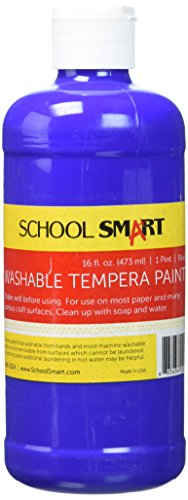 School Smart Washable Tempera Paint - Pint - Blue