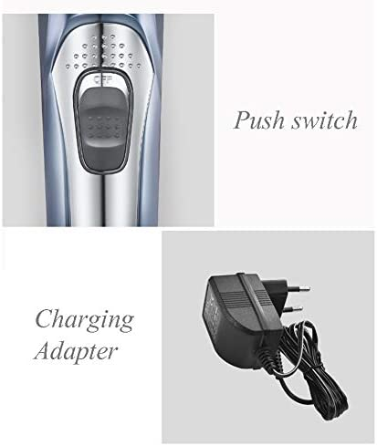 Kids Elders Styling Tools Hair Trimmer Kit Tool,Rechargeable Hair Clippers for Men,Cordless Haircut Grooming Kit with Guide Combs Blue  B7I89