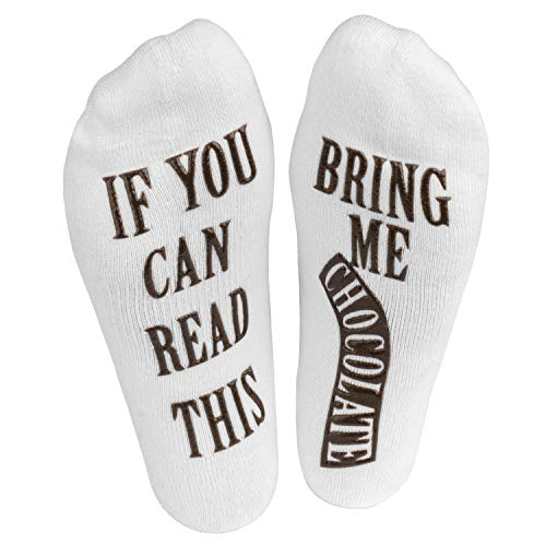 Haute Soirée - Womens - If You Can Read This Bring Me Some Womens Novelty Socks (Chocolate)