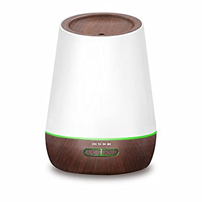 Hysure Cool Mist Ultrasonic Aromatherapy Diffuser with Essential Oils Air Diffuser Mini Humidifier for Kids, Home, Room, Spa, Desktop and Whole House, Deep
