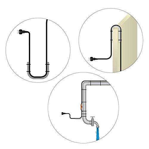 Kit/ circuit de chauffage chauffage goutti/ère avec protection des bords C/âble chauffant antigel 4m
