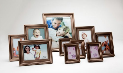 Studio Images set of 10 Photo Frames - Champagne Brown