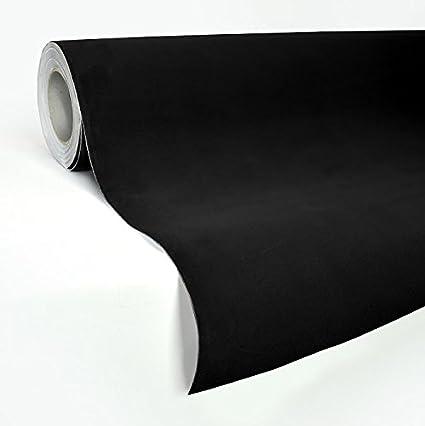 VVIVID Black Felt Matte Suede Vinyl Wrap Sheet Rolls 1ft x 52 Inch