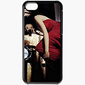 Personalized iPhone 5C Cell phone Case/Cover Skin Anne hathaway actresses famous for being star of get smart and rachel getting married and bride wars Black