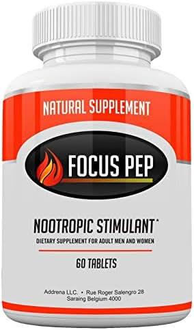 Addrena Focus Pep OTC Stimulants Brain Boosting Dietary Supplement, 1207 mg, 60 Tablets