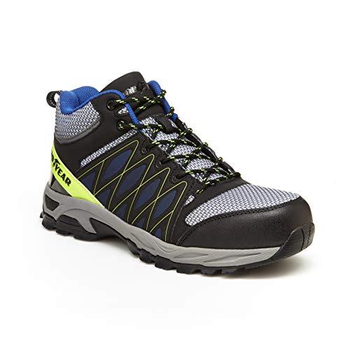 - Goodyear Footwear Reveal Steel Toe Work Boot (12 M US, Black/Grey/Blue)