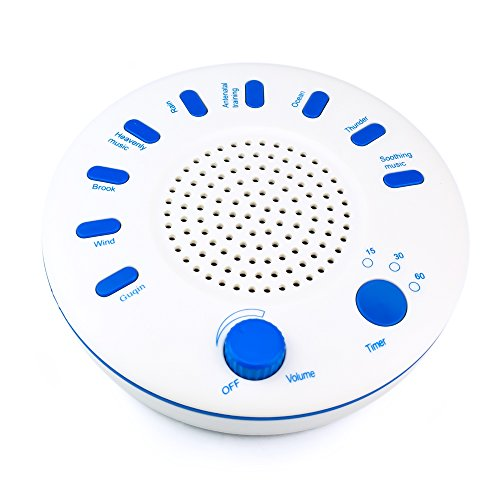 Dricroda White Noise Machine Ultra Hd Sleep Relaxation Sound Machine With 9 Nature Sounds Bedside Led Night Light 3 Timer Option For Yoga Baby Sleep  Relaxation Meditation  Sound Therapy