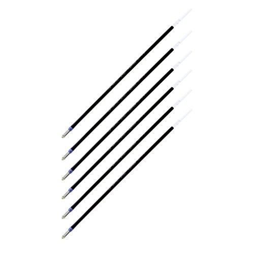 Pentel Refill for R.S.V.P., Razzle-Dazzle, Moonz, Cubix Ballpoint Pens, Fine Point, Blue Ink, Pack of 6