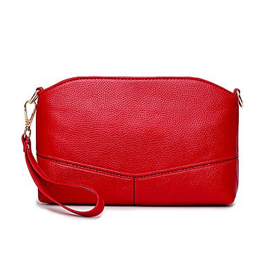 YJIUX Women Shoulder Bag PU All Seasons Wedding Event/Party Casual Formal Office & Career Rectangle Zipper Pale Pink Red Black,Pale Pink