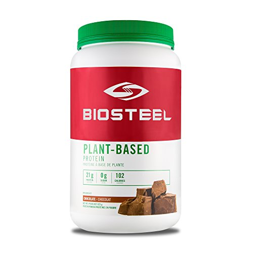BioSteel Plant-Based Protein with Whole Grain Rice Protein, Pea Protein, and Hemp Protein, Chocolate, 825 Gram