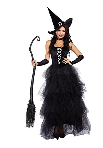 Dreamgirl Women's Spell Bound Costume, Black/Silver, X-Large