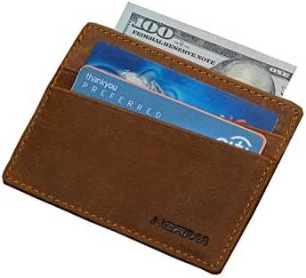 Horiya RFID Leather Slim Front Pocket Wallet With Money Clip For Men
