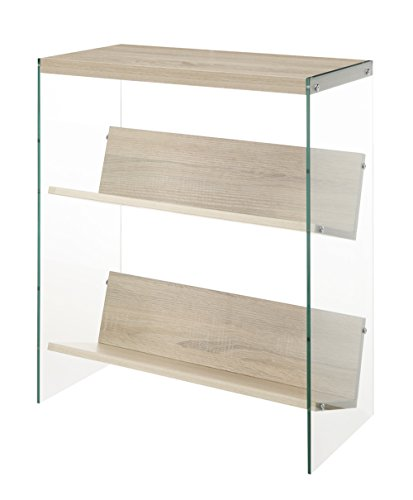 Convenience Concepts Soho Bookcase, Weathered White - Modern Bookcase