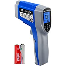 Etekcity 1022D Dual Laser Digital Infrared Thermometer Temperature Gun Non-contact -58℉~1022℉ (-50℃ ~ 550℃) with Adjustable Emissivity & Max Measure for Meat Refrigerator Pool Oven