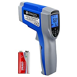 Etekcity 1022d Dual Laser Digital Infrared Thermometer Temperature Gun Non Contact 58℉ 1022℉ 50℃ 550℃ With Adjustable Emissivity Max Measure For Meat Refrigerator Pool Oven