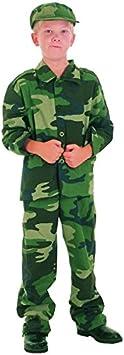 Disfraz militar niño - 7 - 9 años: Amazon.es: Juguetes y juegos