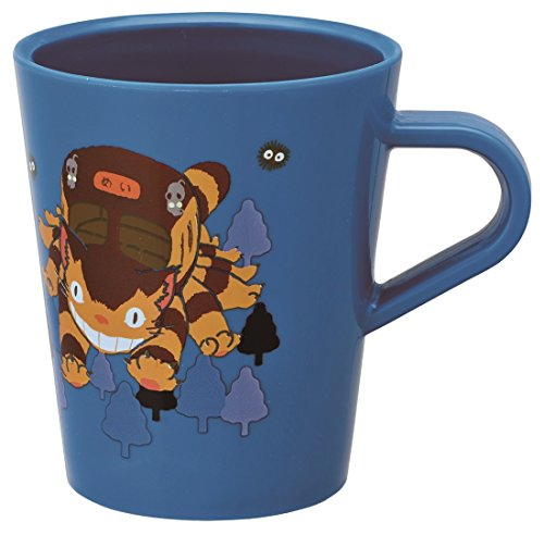 Skater Studio Ghibli My Neighbor Totoro Cat Bus Plastic Mug Cup KP5 capable of washing machine (Mug Plastic China)