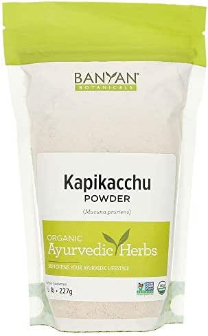 Banyan Botanicals Kapikacchu Powder, 1/2 Pound - USDA Organic - Mucuna pruriens - Natural Source of L-dopa*