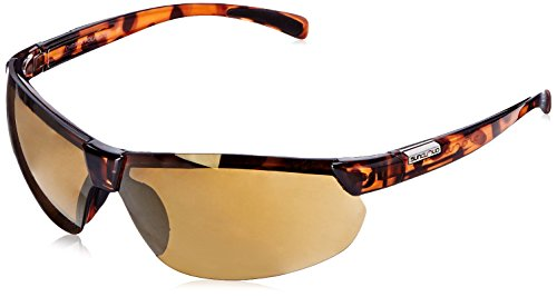 Suncloud Switchback Polarized Sunglass with Polycarbonate Lens, Tortoise Frame/Sienna Mirror