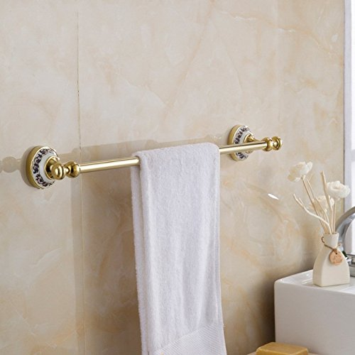 Ss Gold Plated Bar Blue And White Porcelain Towel Bar Chrome Towel