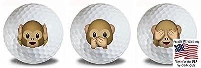 Emoji Monkey No Evil 3 pk