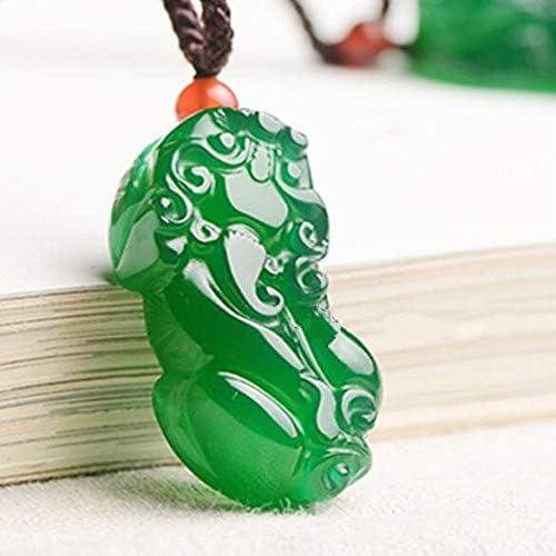 Charmante Handarbeit natürlich weiß grün grün rot Achat Jade geschnitzt niedlich Pixiu Lucky Anhänger feiner Schmuck