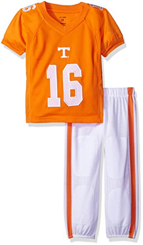 (FAST ASLEEP NCAA Tennessee Volunteers Boys Toddler/Junior Football Uniform Pajamas, Size 6T, Orange/White)