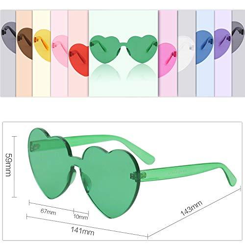 De Para Sol Plástico Corazón SJ2055 Mujer De Gafas SOJOS Verde Forma 4gHqx1Cgw