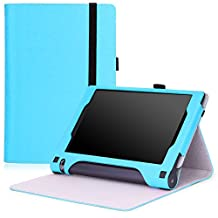 Lenovo Yoga Tab 3 8 Case - MoKo Slim Folding Cover Case for Lenovo Yoga Tab 3 8 Inch 2015 Tablet, Light BLUE