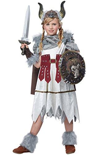 California Costumes Valorous Viking Girl Costume, Multi, (Barbarian Combat Shield)