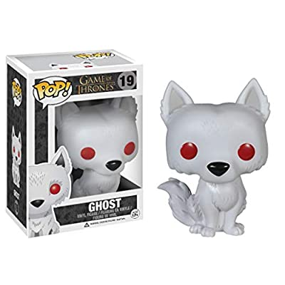 Game of Thrones: Ghost - Dire Wolf Funko Pop! Vinyl Figure (Includes Compatible Pop Box Protector Case): Toys & Games