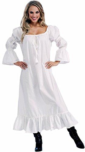 [Forum Novelties Women's Medieval Chemise Costume Accessory, White, One Size (Best Fit 14/16)] (Halloween Costumes Renaissance)