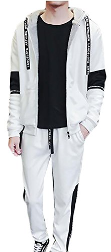 UK Letter Full Hoodie Pants Print today Mens Long Sleeve Sweat Zip and White Suits 64nnBqdfw