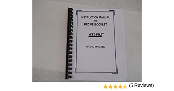 welbilt bread machine manual recipes model abm2h60 plastic rh amazon com
