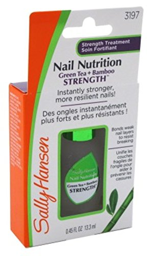 Sally Hansen Nail Nutrition Green Tea + Bamboo 0.45 Ounce (13ml) (3 Pack) - Green Tea Nails