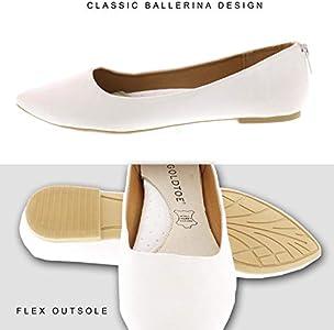 Allisa Womens Pointed Toe Flats,Back