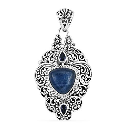 (Pendant Necklace 925 Sterling Silver Kyanite Iolite Gift Jewelry for)