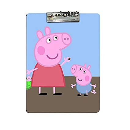 Giftix Personalized Peppa Pig Print Exam Clipboard For Kids