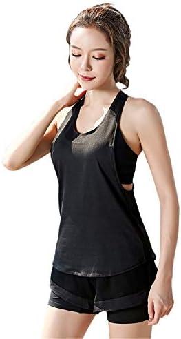 レディースジャージ上下セット 女性3ピース衣装衣装ショートクロップトップススキニートラックスーツセット (Color : Black, Size : L)