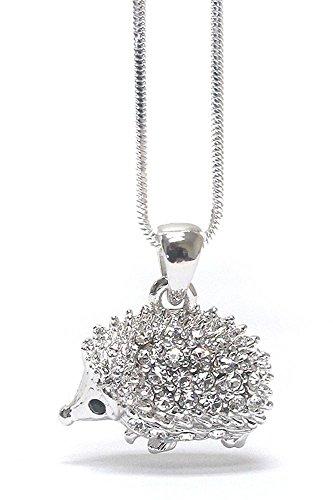 Crystal Hedgehog (Lola Bella Gifts Crystal Hedgehog Necklace with Gift)