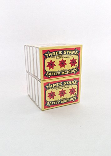 Vintage Matches - Swedish Match, Three Stars Safety Matches, 10 pack