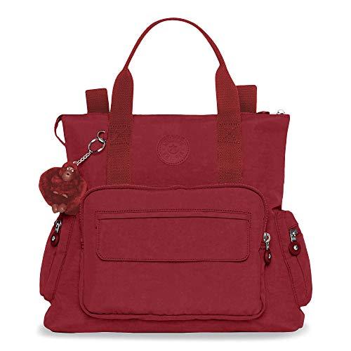Kipling Alvy 3-in-1 Convertible Handbag, Can Be Work 3 Ways, Zip Closure, Brick Red